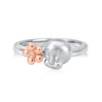 SK Jewellery Looney Tunes Sweet Tweety Diamond Ring