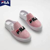 Footwear FILA shoes women's girls pink Casual Beach sneakers slip-on flats shoes