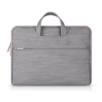 LingTud 15.4inch Waterproof Laptop Handbag, Notebook Case ,Grey