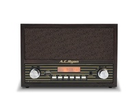 AC Ryan Retro Mini - FM/BT/AUX Alarm Clock Speaker with headphone output port.
