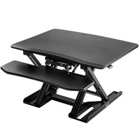 ModernLuxe Modern Luxury Adjustable Sit-Stand Desk Laptop Desk Height Adjustable Standing Desk Black Elevating Desktop Workstation