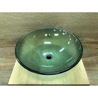 強化玻璃面盆 洗臉盆 上盆 碗公盆 圓形(GBA12S-HW)