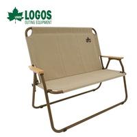 【LOGOS 日本】Tradcanvas (20年紀念款) 高背型雙人椅 休閒椅 露營椅 摺疊椅 (LG73173088)