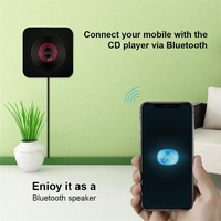 TM Wall Mountable CD Player Portable Bluetooth Music Player with Remote Control