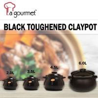 La gourmet® Black Truly Oriental Toughened Claypot with ceramic lid
