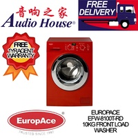 EUROPACE EFW-8100T-RD 10KG FRONT LOAD WASHER *** 1 YEAR EUROPACE WARRANTY *** FREE DELIVERY !!