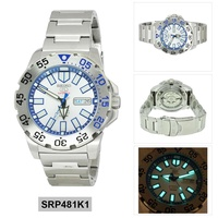 5 Sports Monster Silver Stainless-Steel Case Stainless-Steel Bracelet Mens SRP481K1
