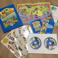 寰宇迪士尼 zippy A4靜電貼紙書 遊戲互動光碟 美語教材 cd the abc's