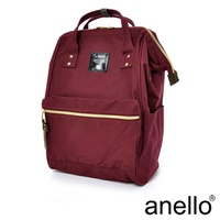 【日本正版anello】經典口金後背包《酒紅色 WI》 L尺寸