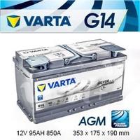 『+正負極-』德國 VARTA 高效能 AGM 深循環電瓶〈G14 95AH〉寶馬BMW 330xd/528i/730ix 電瓶適用-台北市北投電瓶