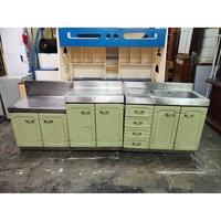 非凡二手家具 蘋果綠白鐵流理臺三件式組*水槽台+平台*洗手槽*洗碗槽*流理台*廚具*二手*2手流理台*三件組流理台