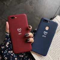 OPPO R9SPLUS/R11/R11S/R11PLUS/R11SPLUS/R17 Love Simple TPU Soft Back Cover Case