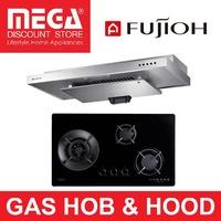 FUJIOH BUNDLE: FH-GS5035 (SVGL/SVSS) 3-BURNER GAS HOB & SLM900R HOOD