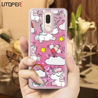 UTOPER Case For Huawei nova 2i Case Silicon Liquid Unicorn Cover For Huawei Mate 10 lite Case For Hu
