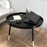 【伊登沙發床】『霍伯特』簡約三色工業風木製和室桌/矮桌/圓桌/茶几