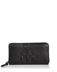 Tory Burch BOMBE-T ZIP CONTINENTAL WALLET (BLACK)