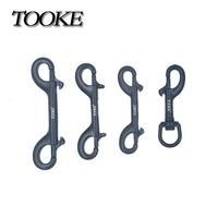 Tooke 黑色316不鏽鋼單頭鉤、雙頭鉤、裝備鉤、鉤子  (全新、黑色、多種size)