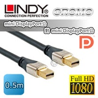 LINDY 林帝 CROMO mini-DisplayPort公 對 mini-DisplayPort公 1.3版 數位連接線 0.5m(41540)
