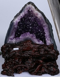 New Mountain shape Natural Uruguay amethyst cave/ Very unique/1 pcs only