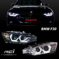 BMW 3-series F30 12-15年 魚眼大燈組 類LCI LED 光柱式樣