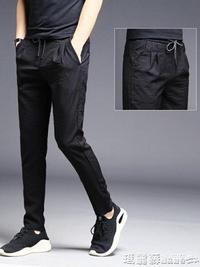 運動褲 男褲子夏季男士超薄冰絲寬鬆長褲薄款運動男裝韓版潮流夏天休閒褲  瑪麗蘇