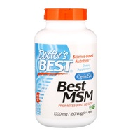 💥現貨🔥Doctor's Best 最佳MSM二甲基碸1000毫克素食膠囊180粒 Best MSM OptiMSM