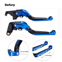 For YAMAHA FJ-09/MT-09 Tracer(2015-2018)Motorcycle Brake Clutch Levers Extendable & Folding Six-speed Adjustable CNC Machined Motor Handlebar Brake(Blue Color)