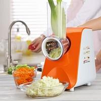 220v切絲器 全自動多功能電動切菜器家用小型土豆絲蘿卜切絲刨絲器涼菜沙拉機 曼慕衣櫃