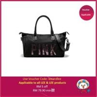 JoyFun Victoria's Secret Stripe Travel Bag - intl