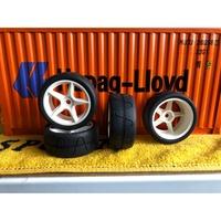 1/10 房車漂移胎 甩尾胎 五爪框 高速甩尾胎 整套1組4顆輪胎+輪框 適用各式1/10遙控車