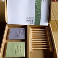 【蘭麗】手工皂禮盒(香皂/肥皂)2入裝+精美皂盤