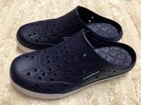 【Jolove】GOOD YEAR固特異拖鞋/懶人水陸鞋/寬楦洞洞鞋83606 深藍