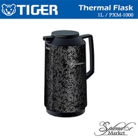 TIGER PXM-1000 Thermal Flask (Made In Japan) (Black/ Textured Black / White)
