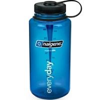 Nalgene 寬嘴水壺/運動水瓶/寬口瓶 Tritan 1000cc 美國製 2178-2024 灰藍色