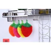 韓國熱銷可愛草莓洗碗布~不挑色 超萌 韓國可愛草莓水果 洗碗巾SK42~ww