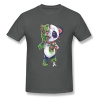 Horror Zombie Panda Ghoul T-Shirt Devil May Cry Bearcat Awesome Tshirts Ostern The Walking Dead Funny T Shirt Anime Print 3D Men charcoal
