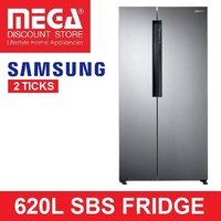 SAMSUNG 620L RS62K60A7SL SIDE BY SIDE REFRIGERATOR WITH TWIN COOLING PLUS