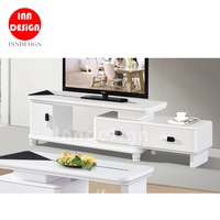 Ally TV Console / TV Cabinet (Glass Top)