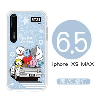 South Korea BT21 Bulletproof Boys iPhone X Cellphone Flash Phone Case x s max Shining Protective Case All Edges Included Soft X