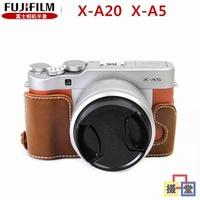 Fuji XA20 XA5 Leather Case Base X-A20 X-A5 Leather Semi-Case Mirrorless Camera Bags Camera Bag