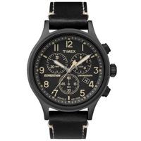 Timex TW4B09100 นาฬิกาข้อมือสำหรับผู้ชาย สายหนัง