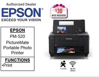 Epson Picturemate PM-520 Portable Colour Photo Printer (free 32GB Flash Drive)  ** Free $30 NTUC Voucher Till 2nd Mar 2019 ** PM520 PM 520