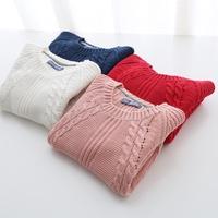 &quot Arbutus&quot  spring of 2016 new girl Korean version long twist base knit sweater dress