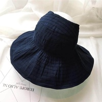 South Korea Summer Hat Folding Empty Top Hat Sunscreen Hat Female Anti Uv Cap Lady Sun Hat