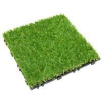 【貝力地板】太陽神DIY塑木止滑踏板 (30 x 30cm - 人工草皮 - 8片/箱)
