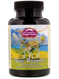 Dragon Herbs Deer Placenta 500 mg 60 Capsules