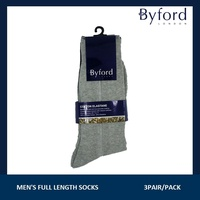 Byford 3pcs Mens Full Length Socks #557178