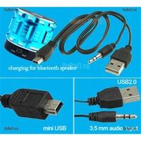 GE USB2.0 Charging Cord to Mini USB Male 3.5mm Jack Plug Audio Bluetooth Cable GA