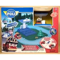 正版 當天寄 波力系列-POLI 救援小英雄/波力/羅伊電動車與充電站遊戲組/正版授權 伯寶公司貨