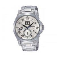 Seiko นาฬิกาาข้อมือผู้ชาย สายสเตนเลส Premier Kinetic Prepetual SNP057